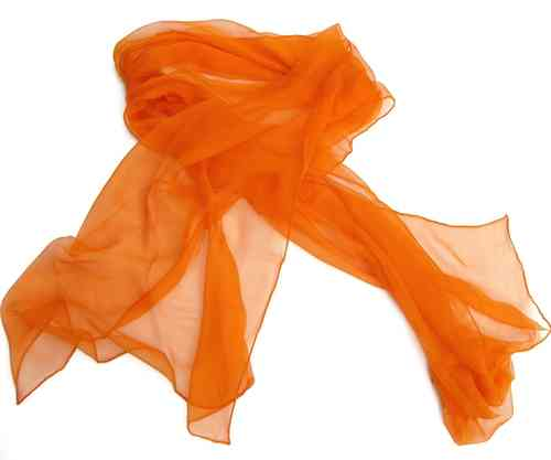 Chiffon-Seidenschal mandarine - Onlineshop Wollezwerg.de 71ea1e1d0e