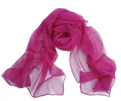 Chiffon-Seidenschal pink - Onlineshop Wollezwerg.de 0dc21b9129