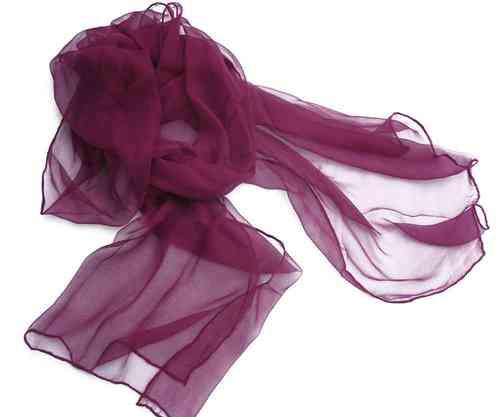 Chiffon-Seidenschal purpur - Onlineshop Wollezwerg.de 019877ba0f